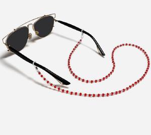 Neck Diamond Pearl Longe cristal pour masque facial Lunettes de soleil en verre universel perles Sling Hanging 200pcs Titulaire de la chaîne Portable