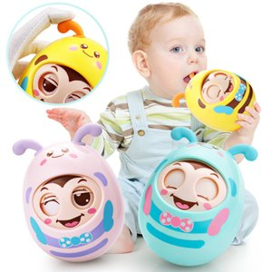 Baby Rattles Nodding Tumbler Doll Toy Educational Moving Eyes Owl with Bells Soft Teeth Glue Baby Toys New Arrival