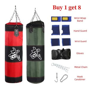 Cheap Punching Bag Sand 60 80 100 centimetri 120 centimetri Vuoto Boxing sacco di sabbia Hanging scossa Sandbag Boxing Training Lotta Karate Sandbag