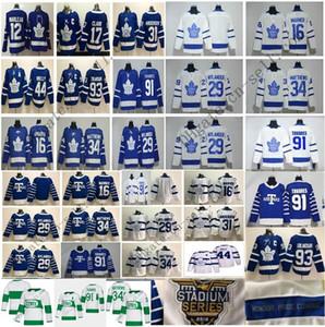 Barato St Pats Pattys Day Toronto Maple Leafs 34 Matthews Jersey 91 Tavares hockey Mitchell Marner William Nylander Frederik Andersen Blanca