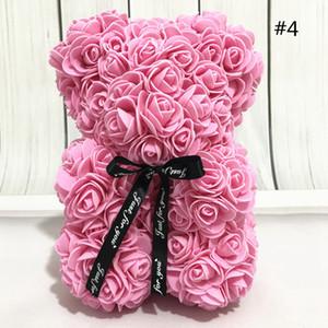 Regalo de San Valentín 13Style 25CM Rose oso de peluche PE plástico flores artificiales Jabón Rose de la espuma de cumpleaños de flores de Navidad Decoración GGA3753