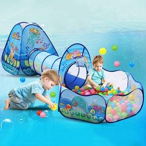 3 Tarama Tünel Havuzu Top Havuzu Evi Çocuk Çadırı LJ200923 ile 1 Ocean Çocuk Çadırı Evi Oyuncak Ball Pool Taşınabilir Çocuk Tipi çadırlar içinde