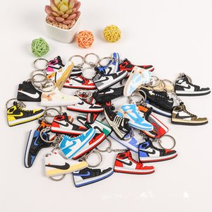 Mini aj Schlüsselanhänger Basketballschuhe kreative Schlüsselanhänger gemeinsamen Namen 3D-Basketball-Schuhe Anhänger Schlüsselanhänger
