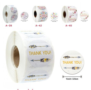 Thank You Stickers Feather Flower Decorate Sticker Beverage Label Birthday Cakes Biscuit Boxes Originality 500pcs Best Sellers 2 2jka F2