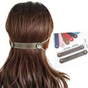 PU máscara de couro Ear Hook 8 cores Anti Slip Ear Protector Proteger Belt Buckle Estender Máscaras Designer Hooks LJJO8304