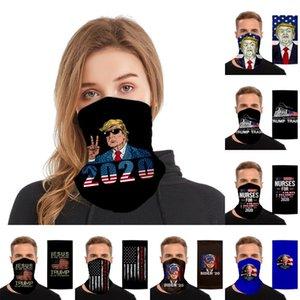 Trump Shield face électorale américaine anti-poussière écharpe magique Joe Biden Bandeaux vélo Neck Gaiter respirante Bandana Masques Visage OOA8448