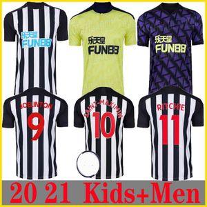 Neue 20 21 Newcastle zu Hause weg terceira Fußball-Trikots Shelvey 2020 2021 Joelinton Fußball-Hemd ALMIRON RITCHIE GAYLE MAN + KIDS Kit Jerse