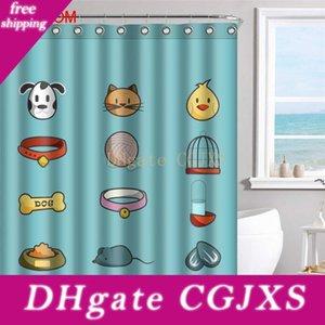 12 후크의 경우에는 곰팡이 욕실 인테리어와 친환경 현대 고양이 개 욕실 방수 커튼 3D 폴리 에스터 직물 샤워 커튼
