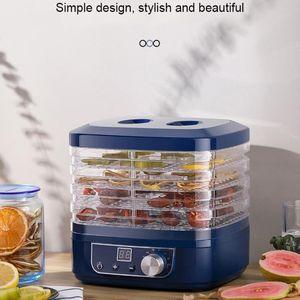 220V getrocknetes Obst Gemüse Fleisch-Maschine Haushalts MINI Dehydratoren Pet Fleisch Dehydrierte 5 Tabletts Snacks Lufttrockner