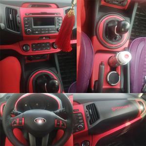 PER KIA Sportage R 2011-2017 Central Interior Pannello di controllo Maniglia 5DCarbon fibra decalcomanie degli autoadesivi Car Styling tagliato vinile