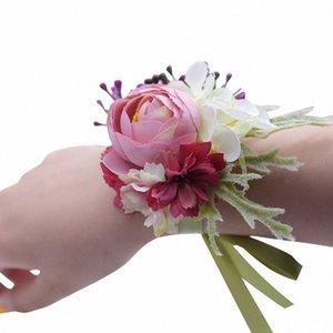 Criativa Artificial dama Sisters Mão Flores noiva do casamento Decoração Corsage Para Fontes do casamento Falso Flores 7C2003 9jVp #