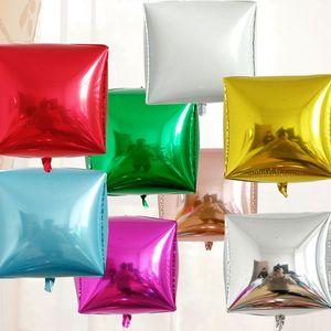 Украшение партии 2 штуки 24-дюймовый трехмерный алюминиевый фильм шар металлический цвет квадратный день рождения свадебный фестиваль
