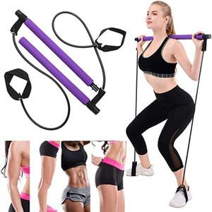 Pilates Bar Stick avec bande de résistance pour la salle de sport portable Home Fitness Body Building Building Sport Fitness Fournitures