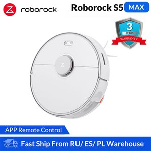 المكانس الكهربائية Roborock S5 ماكس روبوت نظافة للمنزل الذكية كاسحة التنظيف الروبوتية تنظيف ترقية من S50 S55 السجاد