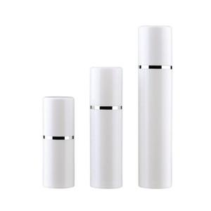 15 30 50ML الخالي القابلة لإعادة التعبئة الأبيض عالية الجودة الرش فراغ زجاجة مضخة بلاستيكية كريم غسول الحاويات أنبوب حجم سفر DHF1025