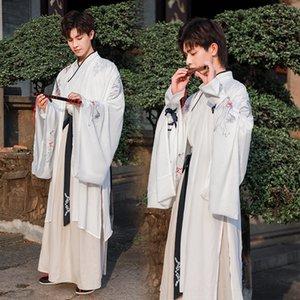 Aprendizaje de las artes chinas del estilo de los q65CE 3971 Longyue Hanfu hombres de aprendizaje traje de rendimiento marcial antiguo del traje traje antiguo