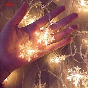Снежинка свет шнура 10M / 100LED Романтическая фея Star LED Lights Открытый Свадьба Главная партия Новый год украшение 8zMM252 0i4u #