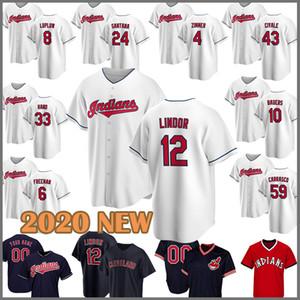 2020 neue Baseball Jersey Inder 12 Francisco Lindor 11 Jose Ramirez 47 Trevor Bauer 30 Joe Carter 22 Jason Kipnis 25 Jim Thome 28 Klüber