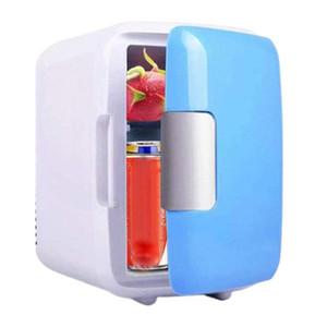 새로운 4 리터 휴대용 소형 개인 냉장고 쿨스 뜨거워 큰 침실 사무실 자동차 기숙사 휴대용 메이크업 스킨 케어 냉장고에 대한