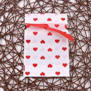 iqObe bolsa de 12 * 17 cm de caramelo bolsa de plástico de la cinta de bolsillo paquete de regalo de la mariposa del bowknot lindo regalo de Navidad