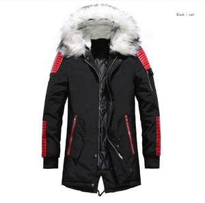 Veste à capuche en fourrure extérieure Hommes épais Parkas Taille Plus célèbre marque M-3XL doudoune homme Vestes d'hiver Manteaux Noir chaud vers le bas