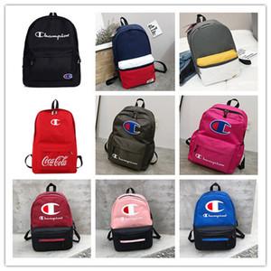 2019 novo cartão Tide Campeão meninos mochila e meninas de lona casais schoolbag Viagem Backpack multi-cores opcionais