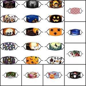 48styles Хэллоуин тыква Клоун череп Маска 31styles Рождества Сант-Клаус Олень дерево маски маски для лица пыла с фильтром для взрослых детей