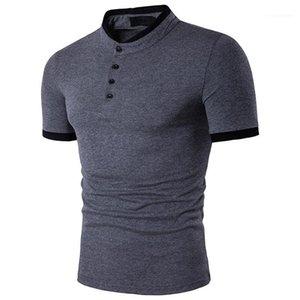 2020 Polo Stand Designer Tshirt Tshirt Slim Clothing Mens Sleeve Short Luxury Polos Sport Collar Pullover MSLS MKSLS