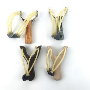 Slingshot Алюминиевый сплав Деревянный Slingshot Катапульта охотничий лук Камуфляж Лук Un-hurtable Открытый Поиграть Инструменты катапульта
