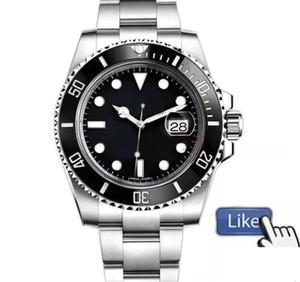 New Top Ceramic Bezel Mens 2813 Механическая нержавеющая сталь Автоматическое движение Часы Watch Sports Wind Wind Watches Наручные часы Бреме