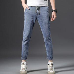 online jeans y los pantalones vaqueros celebridad nueva pantalones de mezclilla de moda 2020 moda del todo-fósforo pantalones elásticos sueltos estilo coreano recta de los hombres de los hombres