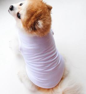 단색 애완 동물 조끼 작은 개 고양이 애완 동물 의류 드레스 조끼 T 셔츠 의류 의류 셔츠 조끼 KKA8013