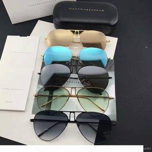 2017 Nouvelle VB Victoria Beckham Gafas de sol lunettes de soleil Sunglass boîte de façons les hommes et les femmes des lunettes de soleil marque oculos film couleur