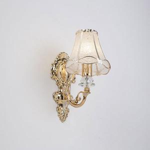 Background Europeia Pétala parede lâmpada de cabeceira ouro Single-Chefe TV Wall luzes do quarto Sala Sala Corredor Escada Luz