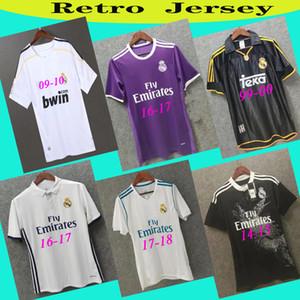 Retro 10 11 12 Real Madrid Fútbol de fútbol Jersey Guti Ramos McManaman 13 14 15 Ronaldo Zidane Beckham 06 07 Raul Robinho Retro uniforme