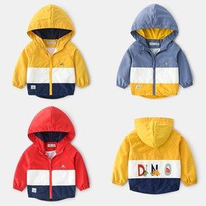 New Automne Veste coupe-vent Jchao enfants garçons broderie bébé dinosaure Manteaux garçons à capuche pour enfants Vêtements pour enfants Y200831