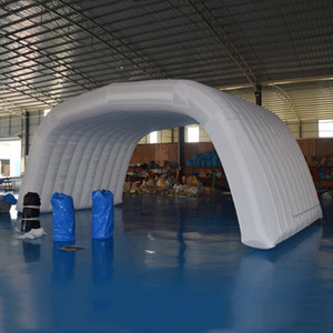 Customized stage tent balloon inflatable concert shelter stage dome shell marquee tent with rear back for your party