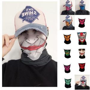 US Stock New Halloween Anime Party Crâne Squelette Masques écharpe magique CONÇU Banada Neck Gaiter Plein Air Sports Equitation Masques FY9190
