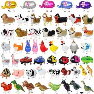 걷는 애완 동물 풍선 동물 헬륨 알루미늄 호일 풍선 만화 공룡 풍선 어린이 장난감 생일 웨딩 파티 DHC1289 용품