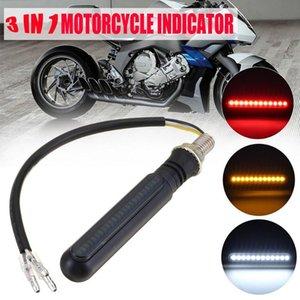 New Motorcycle Turn Signals Tail Light LED Flowing Water Flashing Blinker Brake Running Light DRL Flasher Tail Lamp