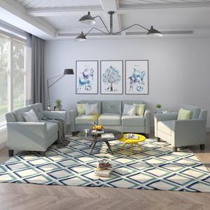 ABD Stok U STİL Düğme Tepeli 3 Adet Sandalye Loveseat Koltuk Takımı Salon Ev Mobilyaları WY000048EAA