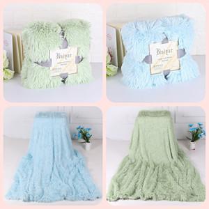 Мягкая Shaggy Fuzzy Throw Одеяло - Пушистые ожидающий искусственный мех Пледы - теплое уютное плюшевый Sherpa Одеяло для Couch Диван кровати реквизит Home Decor