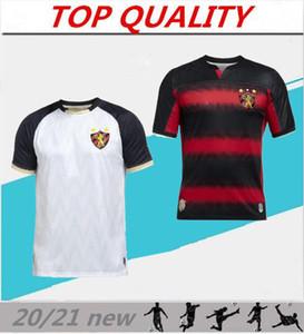 20 21 Brésil Sport Club do Recife maillot de football chemise rouge rayé noir 2020 2021 chemises de football Hernane SANDER camisa Recife Goleiro
