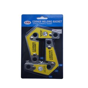 2ST Einstellbarer Schweiß Corner Magnet Holder Industrieinnenwinkel Clamp Schweißbefestigung Schweißen Magnet Holder Locator Werkzeuge
