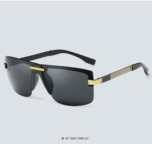 HD Polarized Sunglases Rimless Men Sunglasses 2020 Designer Gafas Masculino Polarizado03