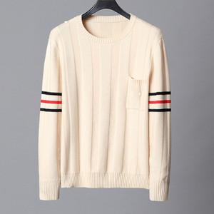 qualità TOP progettista degli uomini maglioni di lusso di abbigliamento di marca superiore della molla di autunno moda manica lunga lettera ricamo pullover Sweater Coat ponticello