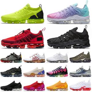 size 13 2020 nike air vapormax tn plus flyknit off white Pastel Moc Koşu Spor Ayakkabı Erkek Kadın Run Utility Üçlü Siyah CNY Kırmızı Fly Örgü Açık Eğitmenler Atletik Sneakers