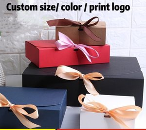 paper box paper bag Gift boxes with ribbon wedding favor boxes,baby shower favor boxes,party gift boxes 20pcs lot