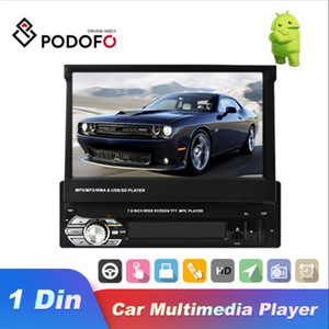 "Podofo Car Radio 1 din 7"" HD Touch Screen Autoradio GPS Bluetooth Car Stereo FM USB SD MP5 Player for Universal"