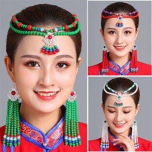 Ethnic style women dancing party headdress beautiful mongolian headwear wedding bride princess Jewelry cosplay costume accessories